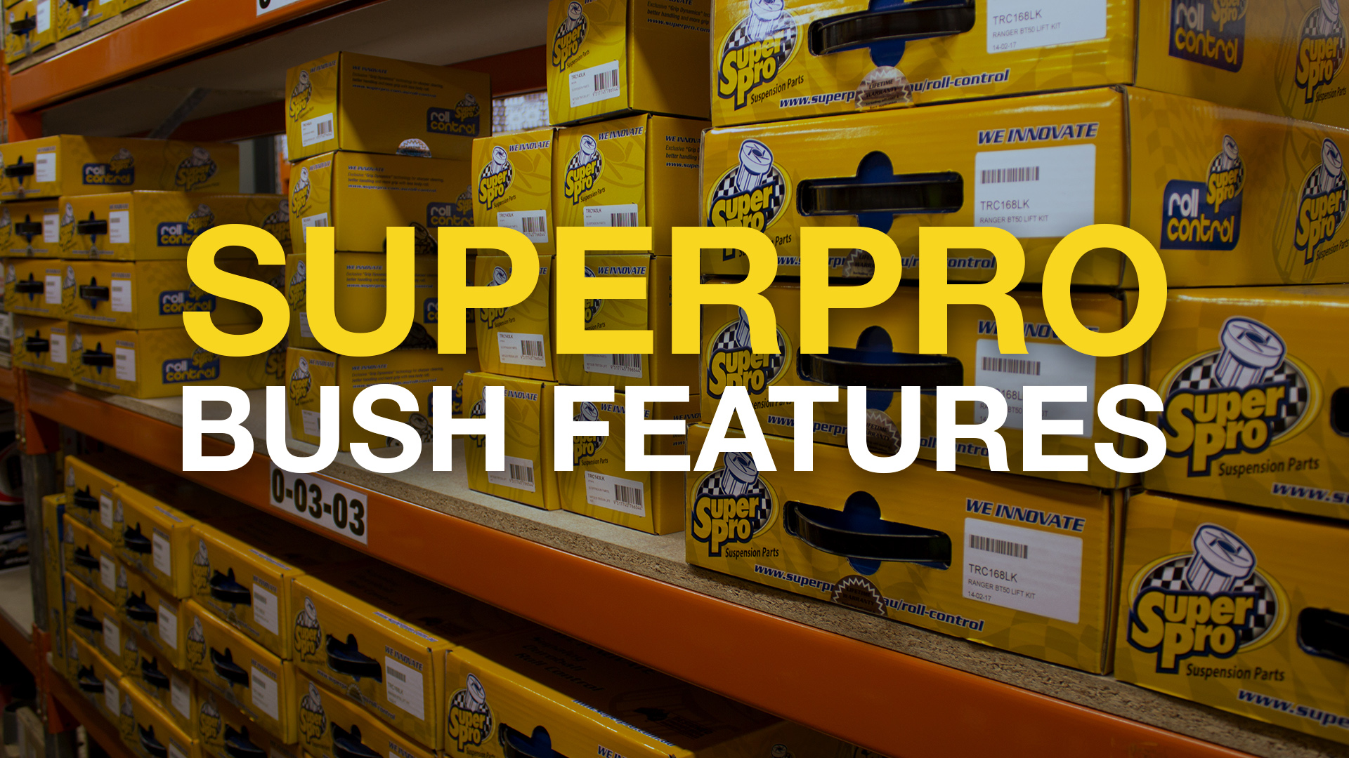 SuperPro Suspension Bushing Design Features