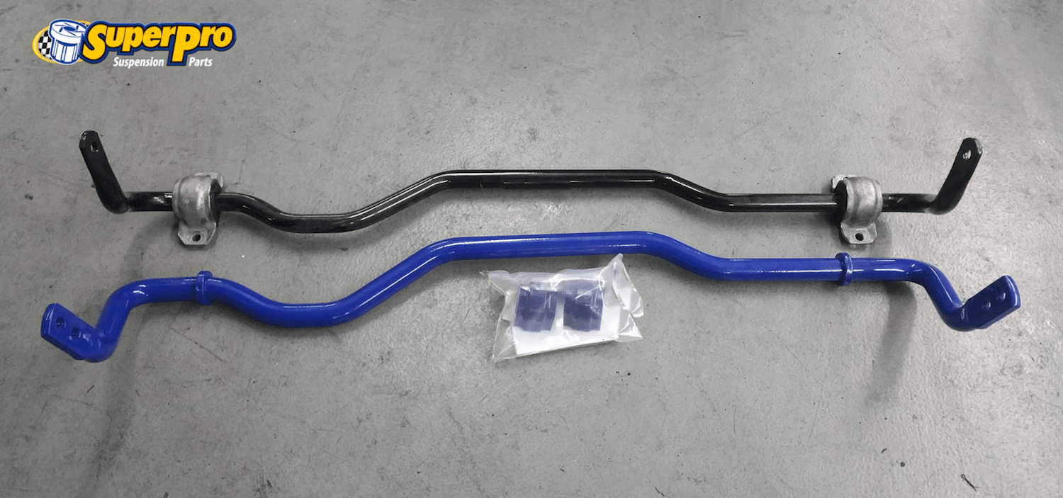 Audi RS# OE vs SuperPro adjustable sway bar upgrade