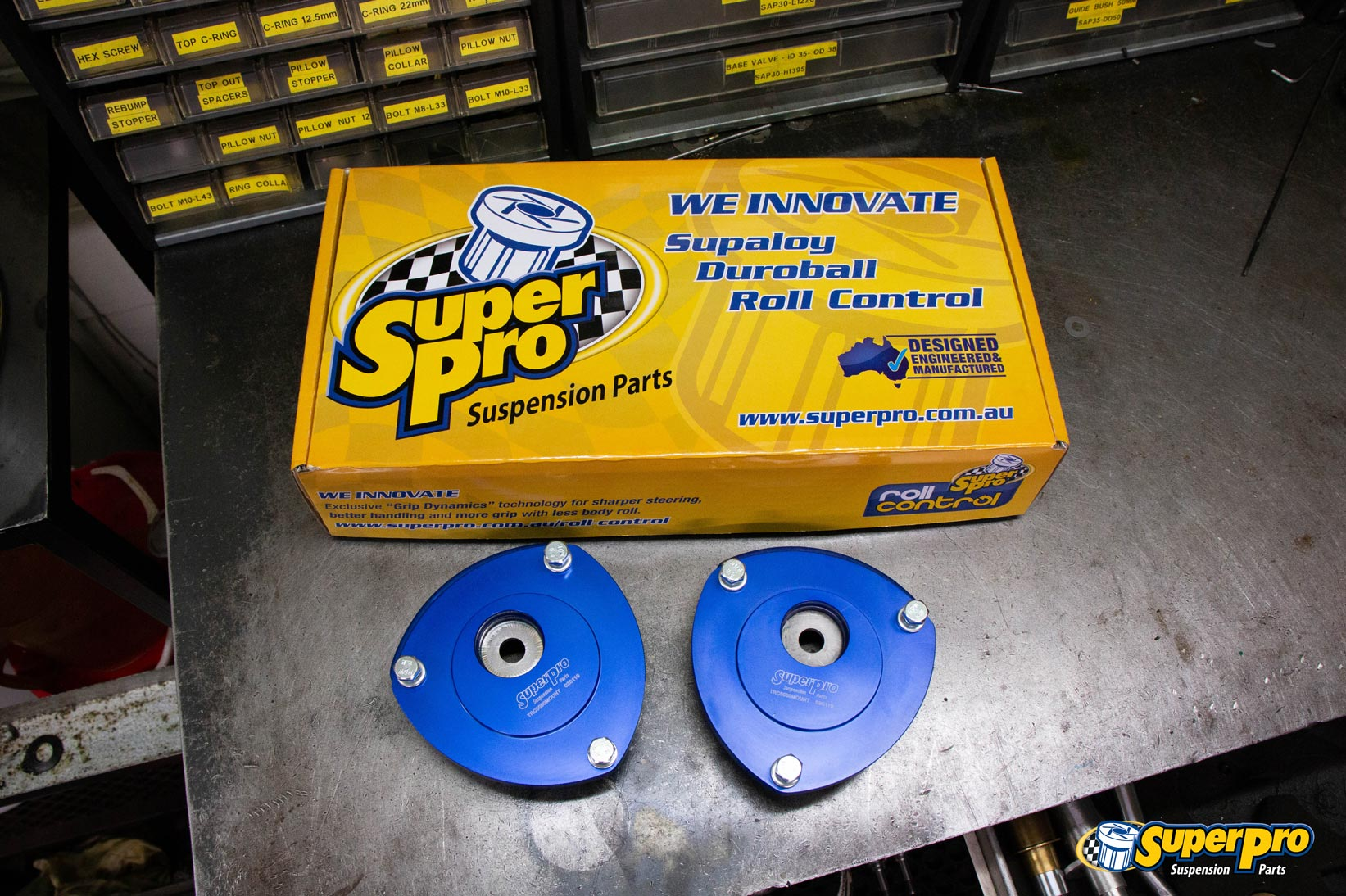 SuperPro VAG MQB Offset Strut Mounts