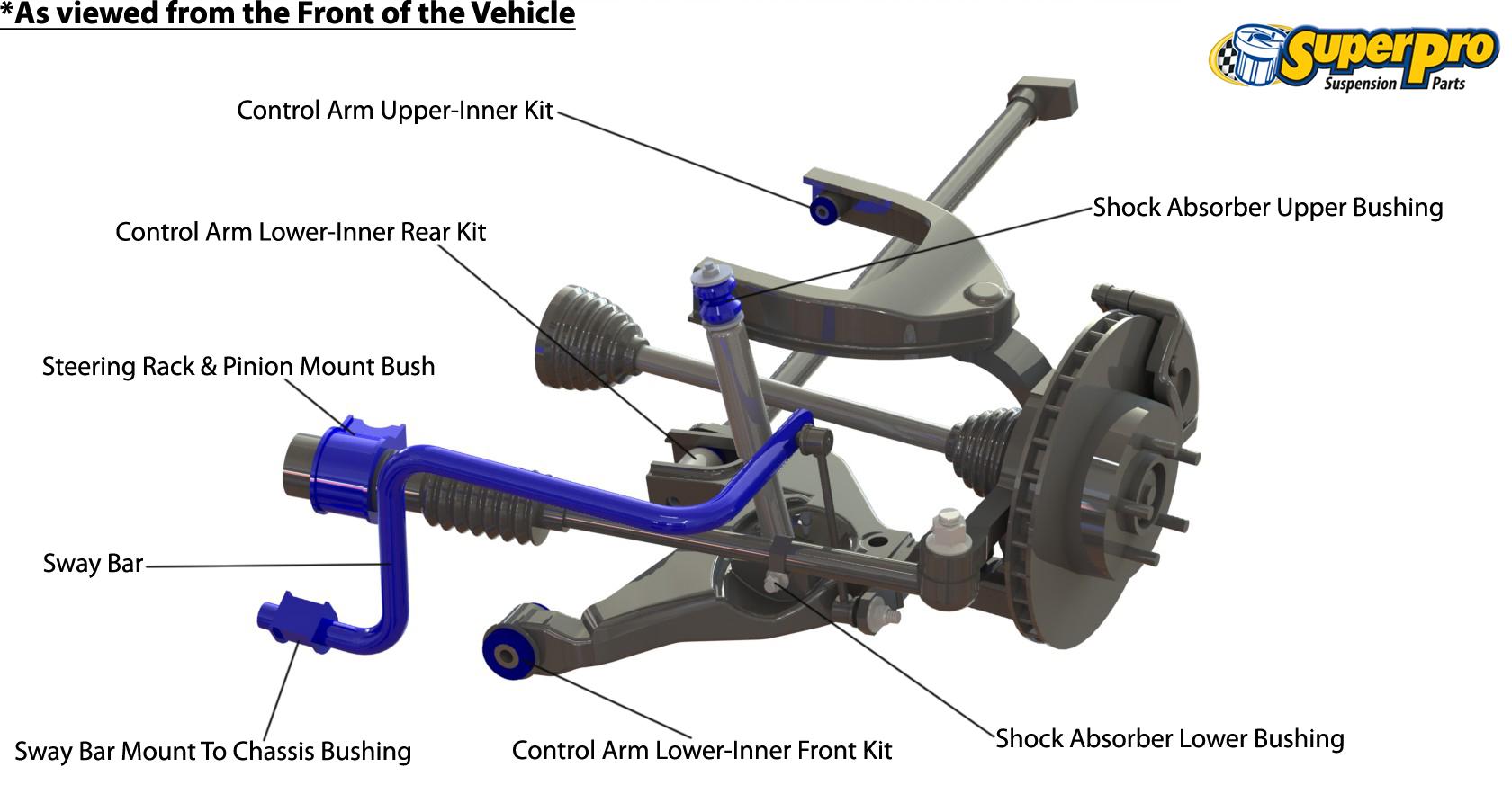 Superpro Suspension Parts And Poly Bushings For Mitsubishi Pajero 97 Montero Sport Engine Diagram Front 1991 2000 Nh Nj Nk