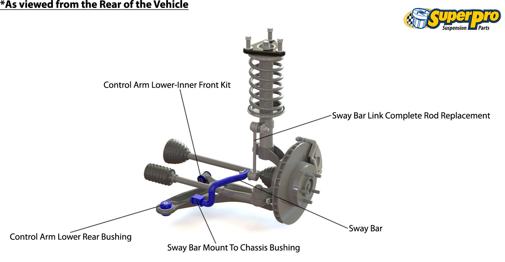 Front suspension diagram for TOYOTA RAV 4 2000-2005 - XA20