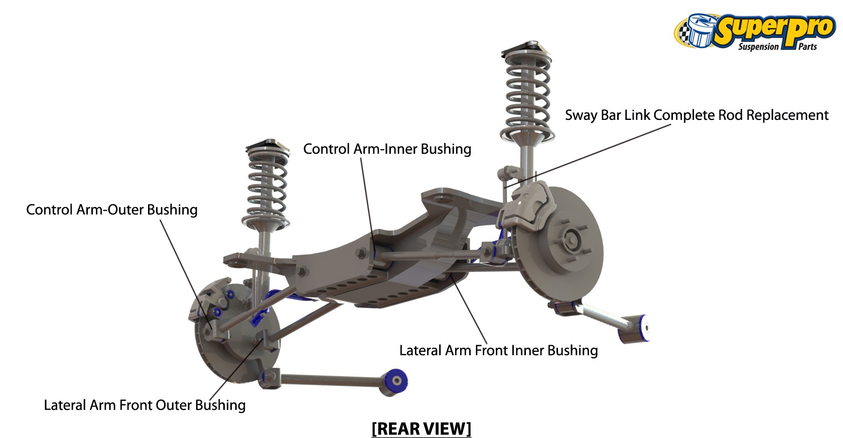 Rear suspension diagram for TOYOTA CAMRY 2011-on - XV50