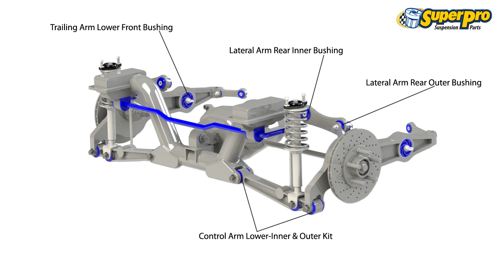 Superpro Suspension Parts And Poly Bushings For Honda Cr V Rd Mk1 1999 Civic Rear Sway Bar Diagram 4wd Wagon 1995