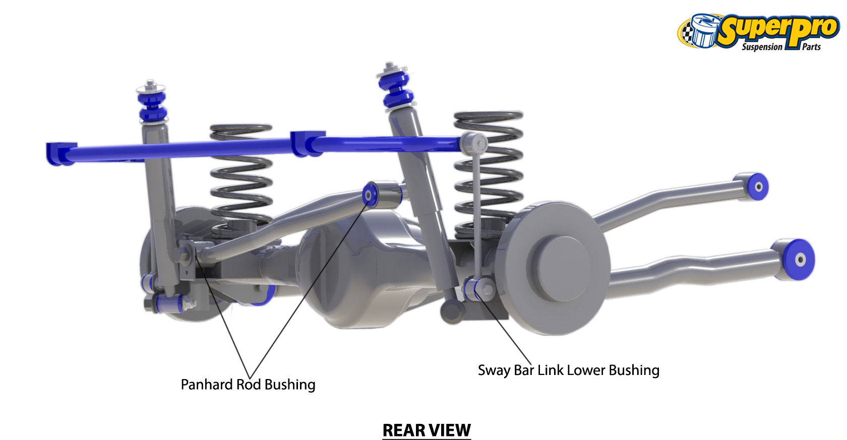 Rear suspension diagram for NISSAN NAVARA NP300 4WD Dual Cab - 2015-on