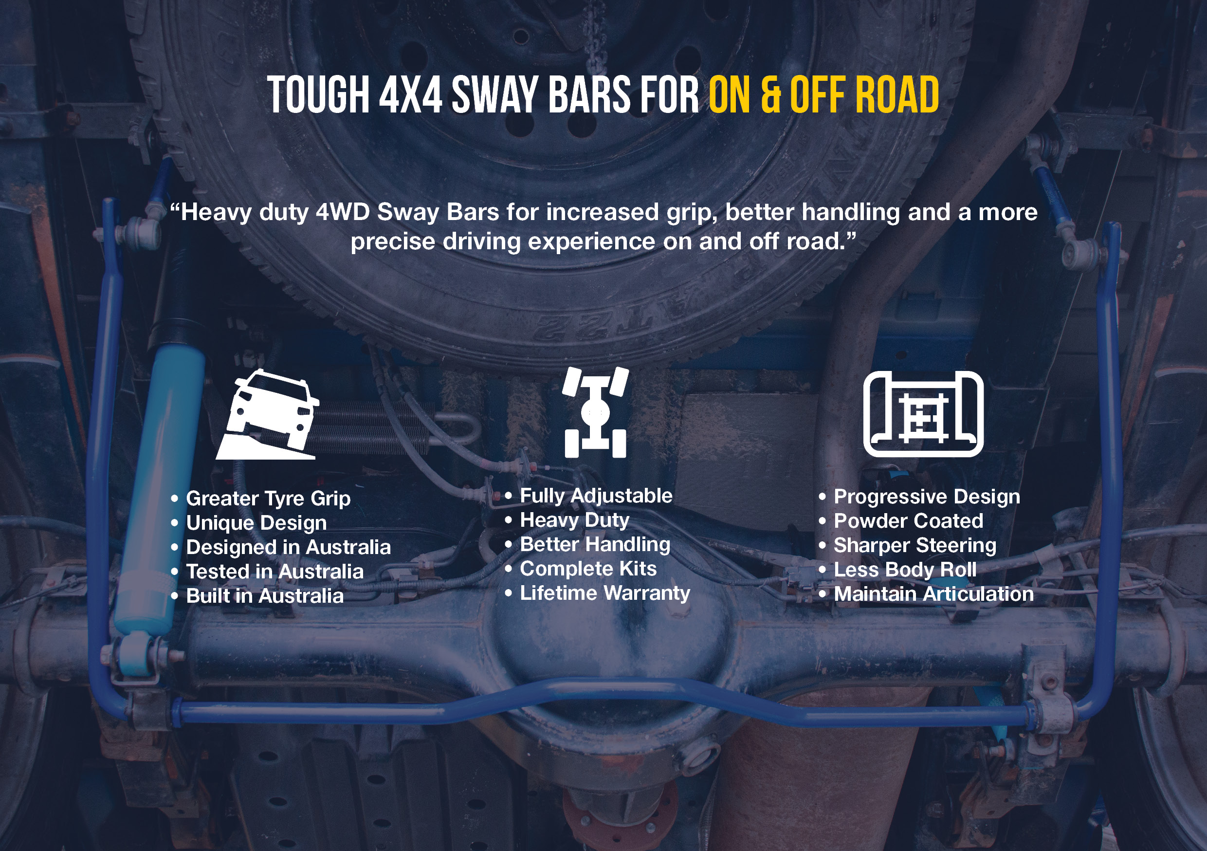 SuperPro 4WD Sway Bars