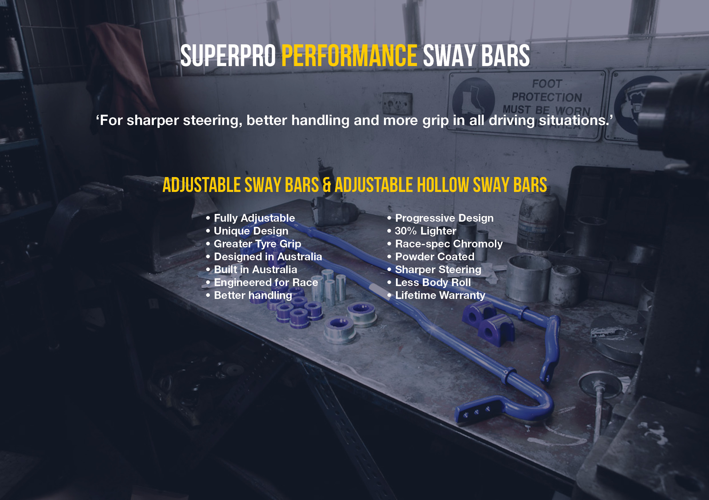 SuperPro Performance Sway Bars